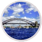 Australian Day Is A Party Day On Sydney Harbour  Round Beach Towel