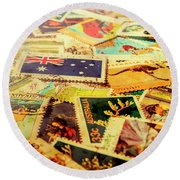 Australian Postal Background Round Beach Towel