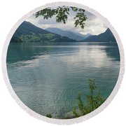 Austrian Lake Round Beach Towel