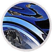 Auto Headlight 27 Round Beach Towel