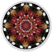 10446 Autumn 01 Kaleidoscope Round Beach Towel