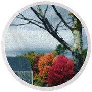 Autumn 1010 Round Beach Towel