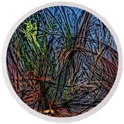 Autumn Abstraction Round Beach Towel