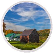 Autumn Afternoon Round Beach Towel
