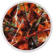 Autumn Allegretto Round Beach Towel
