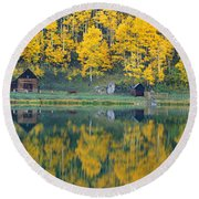Autumn Aspens Along Route 550, North Round Beach Towel