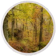 Autumn At Rim Rock Round Beach Towel