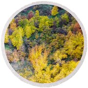 Autumn Background  Round Beach Towel