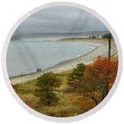 Autumn Beachcombers  Round Beach Towel