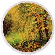 Autumn Bliss Of Color Round Beach Towel