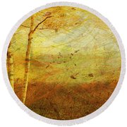 Autumn Breeze Round Beach Towel