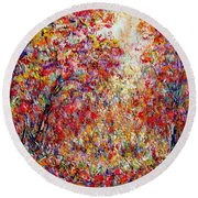 Autumn Brilliance Round Beach Towel