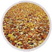 Autumn Carpet Round Beach Towel