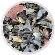 Autumn Carpet Round Beach Towel