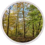 Autumn Color Reflections Round Beach Towel