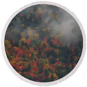 Autumn Colors In The Clouds Round Beach Towel