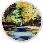 Autumn Colors Round Beach Towel by Paul Walsh