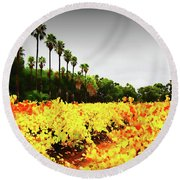 Autumn Contrasts Round Beach Towel