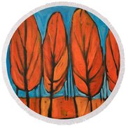 Autumn Dance Round Beach Towel