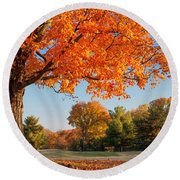 Autumn Dawn Round Beach Towel