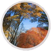 Autumn Day Round Beach Towel