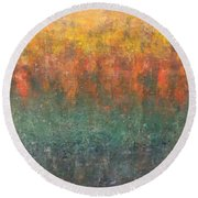 Autumn Delight Round Beach Towel