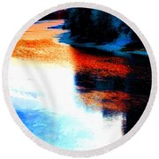 Autumn Down By The River Round Beach Towel