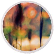 Autumn Dreams Abstract Round Beach Towel