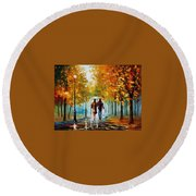 Autumn Elegy Round Beach Towel