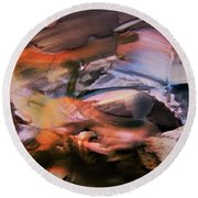 Autumn Fades Round Beach Towel