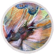 Autumn Fairy Round Beach Towel