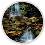 Autumn Falls - 2885 Round Beach Towel