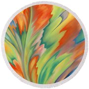 Autumn Flame Round Beach Towel