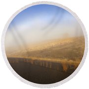 Autumn Fog Bow Round Beach Towel