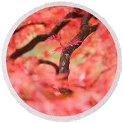 Autumn From Within Round Beach Towel