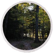 Autumn Glen Round Beach Towel
