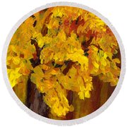 Autumn Glow Round Beach Towel