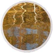 Autumn Gold Round Beach Towel