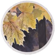 Autumn Gold Round Beach Towel