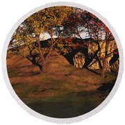 Autumn Grove Round Beach Towel