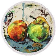 Autumn Harmony Round Beach Towel