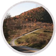 Autumn Hill Near Hancock Maryland Round Beach Towel