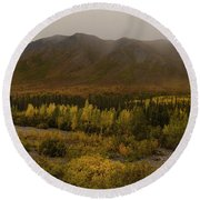 Autumn In August Brooks Range Alaska Round Beach Towel