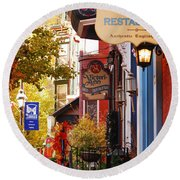 Autumn In Jim Thorpe Round Beach Towel