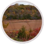 Autumn In Missouri Round Beach Towel