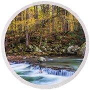 Autumn In Smoky Mountains National Park  Round Beach Towel