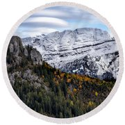 Autumn In Switzerland Round Beach Towel