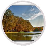Autumn In The Hill Country Round Beach Towel