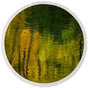 Autumn In Truckee Round Beach Towel