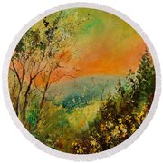 Autumn Landscape 5698 Round Beach Towel